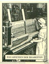 Germany Factory Machine of cigarettes TOBACCO HISTORY HISTOIRE DU TABAC CARD 30s
