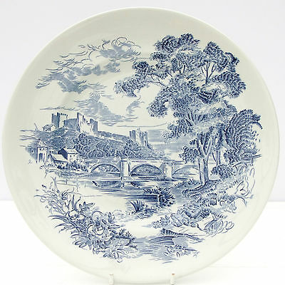 Vintage Wedgwood Countryside Blue White Dinner Plate
