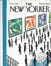 COVER ONLY ~The New Yorker magazine ~ MICOSSI ~ March 6 1965 ~ Art Show opening