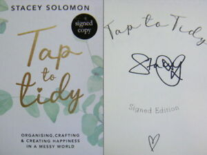 Signed Book Tap to Tidy by Stacey Solomon 1st Edition Hardback 2021