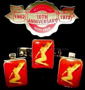 Marilyn-Monroe-1962-Vintage-Pinup-Calendar-Cufflinks-Set-Golden-Dreams-MT-COA