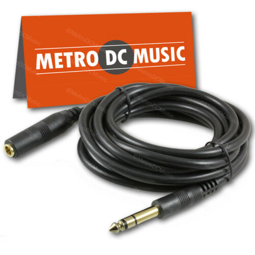 """6-Pack 10 ft Stereo Headphone Extension Cable 1//4/"""" TRS Male to Female Cord 6.35"""