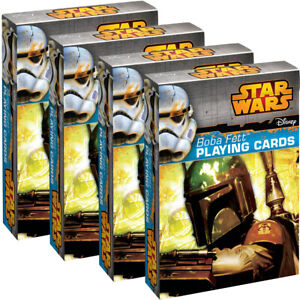 4-Deck-Set-Boba-Fett-Playing-Cards-By-Cartamundi-Fun-Star-Wars-Themed-Collectors