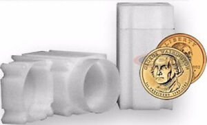 2 COINSAFE SMALL DOLLAR SQUARE TUBE COIN CLEAR PLASTIC STORAGE HOLDERS
