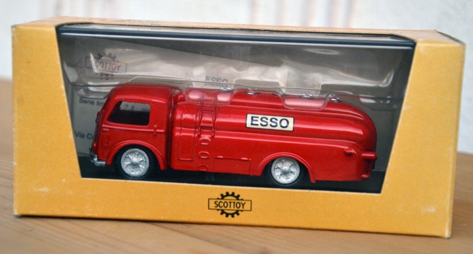 SCOTTOY Autobotte Viberti 'Esso' rouge  SCOTT27E  détaillants en ligne
