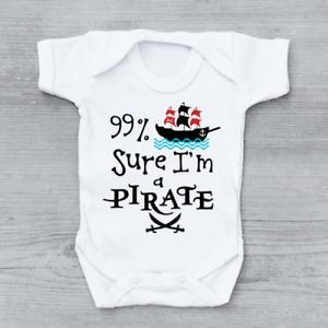 99/% Sûr que je suis un pirate Drôle Garçons bébé grandir Body