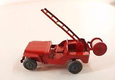 Polichinelle France Jeep pompier en tôle 8 cm Tin Toy