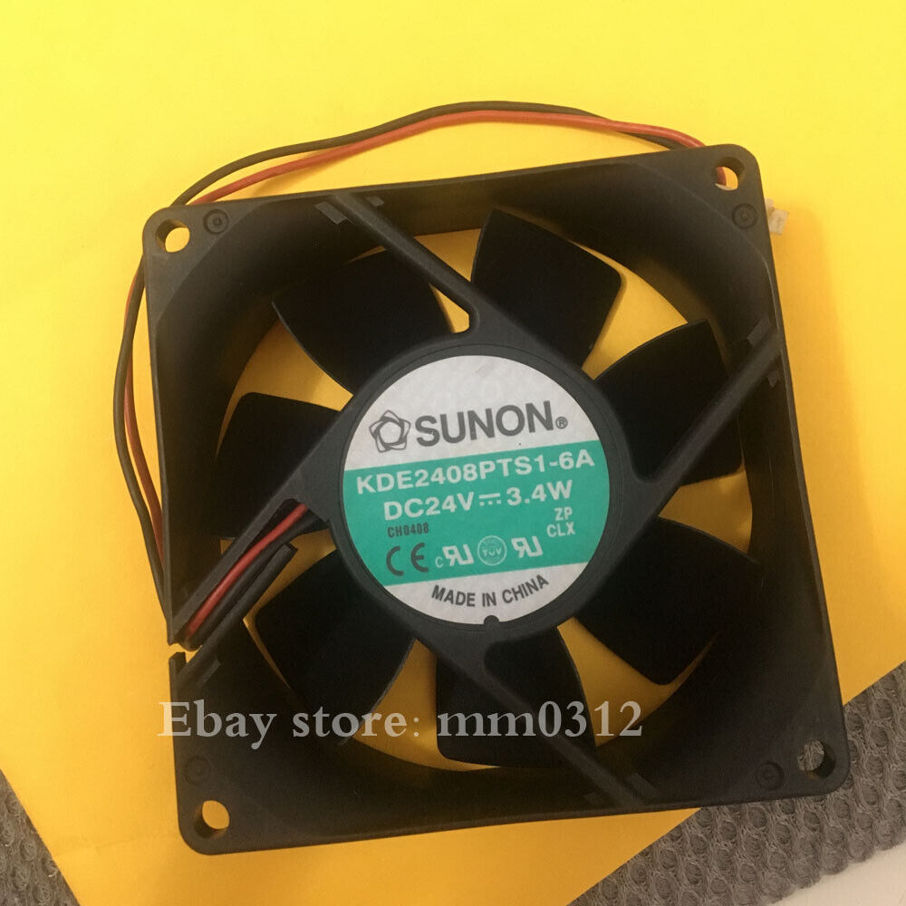 1pcs SUNON KDE2408PTS1-6A DC24V 3.4W 8025 Inverter Cooling Fan 2pin