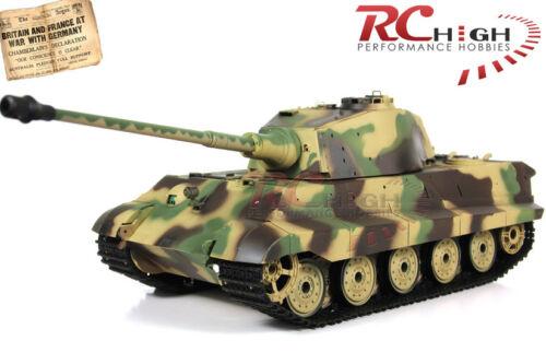 Heng Long 1//16 Scale German King Tiger Henschel RC Battle Tank 2.4Ghz