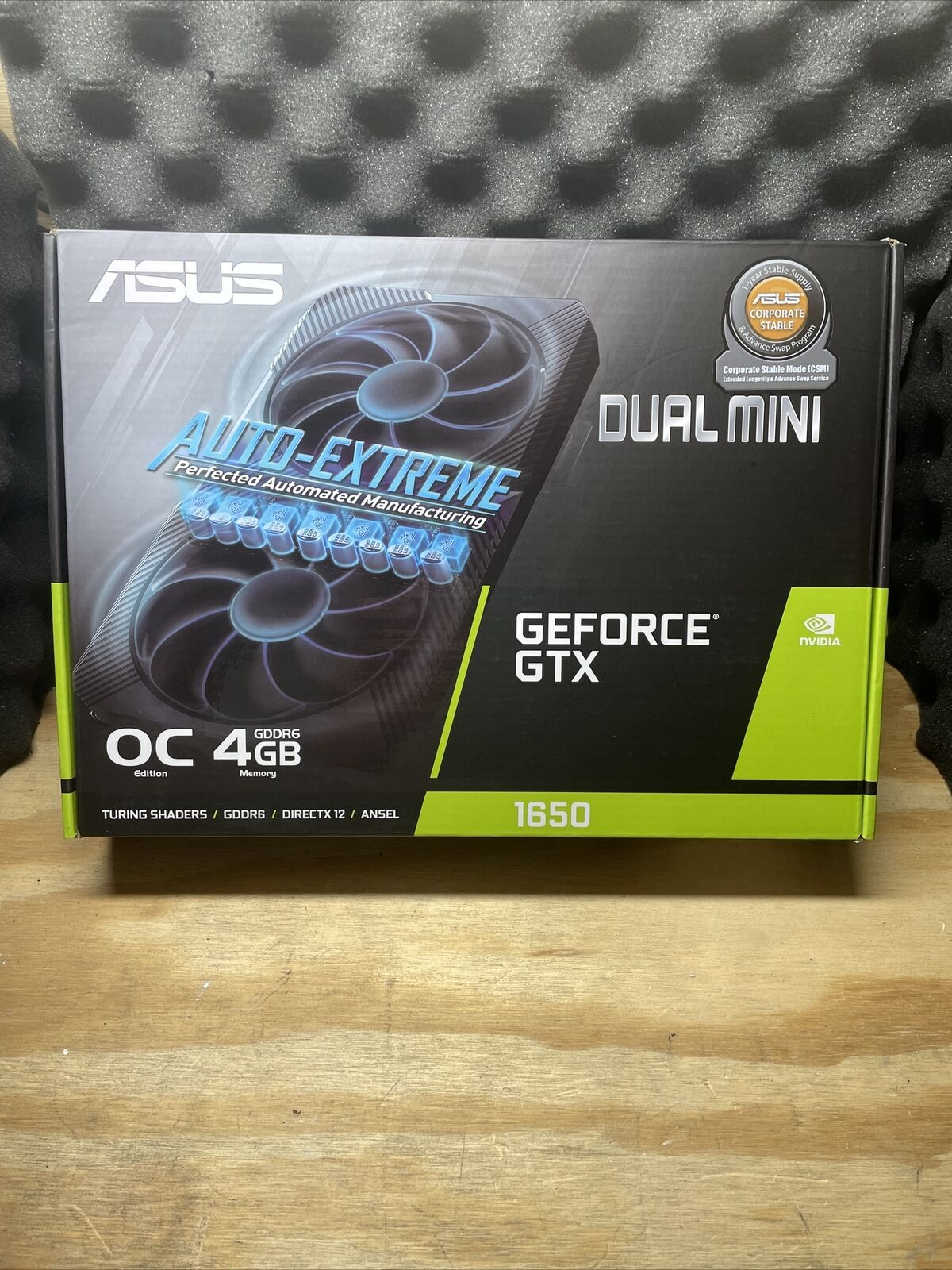 *BOX ONLY* ASUS Phoenix GeForce GTX 1650 OC 4GB GDDR6 Graphics Card **BOX ONLY**