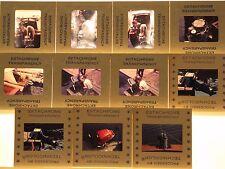 Lot of 11 Vintage 35mm Slides-Outboard Motor Photos-Blue Border Transparencies