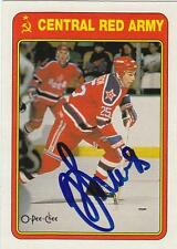 DMITRI KHRISTICH Autographed Signed 1990-91 OPC card Soviet Red Army Hockey COA