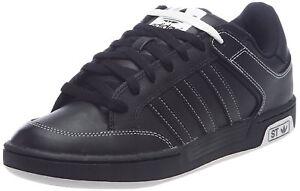 Adidas Varial Ragazzi Da Uomo Nero ST Casual bassa lacci moda sneakers UK4.5