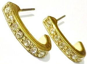 Expressif Boucles D'oreilles Percées Bijou Vintage Anneaux Couleur Or Cristal Diamant 93 Avoir Un Style National Unique