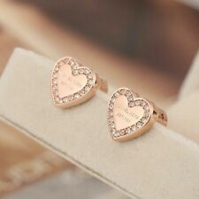 ae65ed96ae46 item 3 Michael Kors Rose Gold Tone Heart Crystal Earrings -Michael Kors  Rose Gold Tone Heart Crystal Earrings