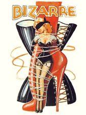 VINTAGE 1940'S BIZARRE FETISH  MAGAZINE COVER ART A3 POSTER RE PRINT