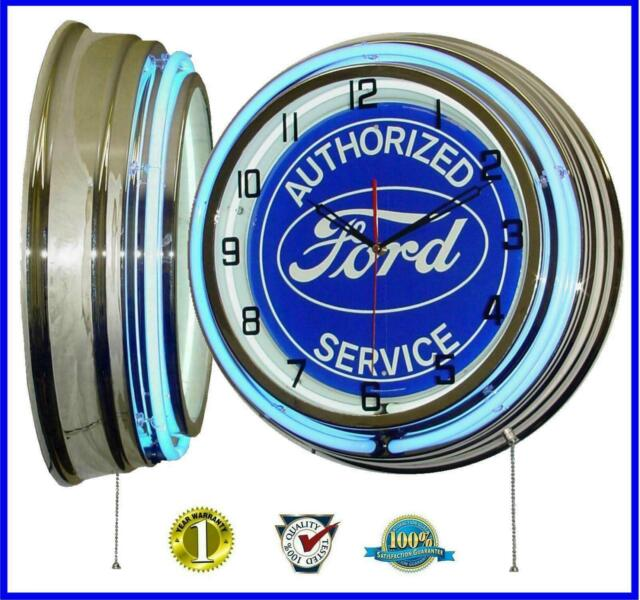 Genuine Ford Parts GT Oval neon clock sign garage wall lamp Man cave lamp OLP