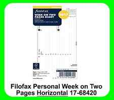 Filofax Personal 2017 Diary Week On Two Pages Horizontal Refill 17-68420