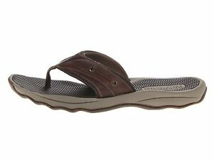 Men Sperry Top Sider Outer Banks Thong Sandals (1277011) Brown Size 12 New