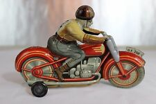Antique TECHNOFIX TOY GE258 WIND UP TIN LITHO MOTORCYCLE No Tippco  Schuco