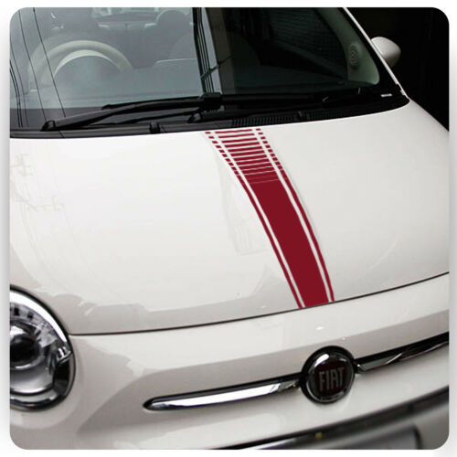 Fiat 500 Abarth Car Bonnet Stickers Italian Flag decal graphic stripe Grande