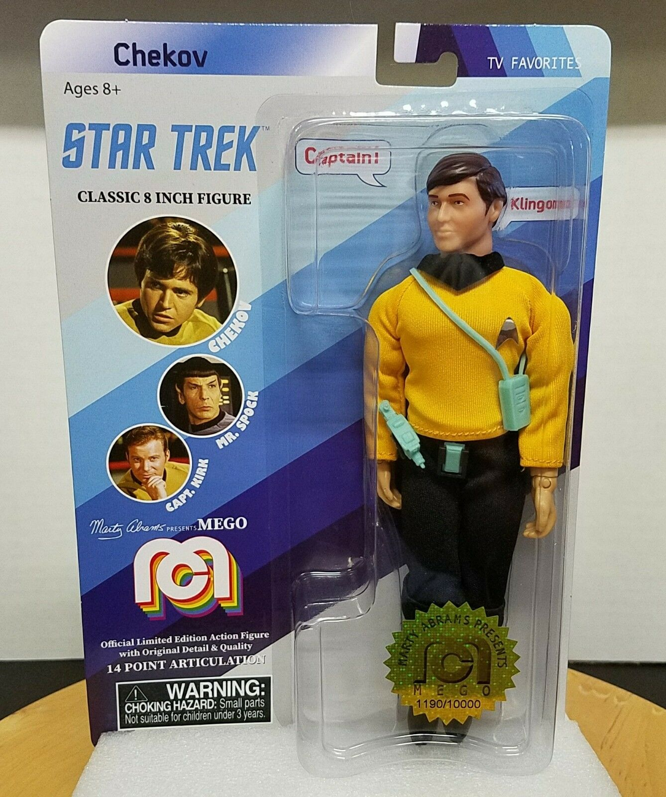 Mego 2018 Star Trek 8 Inch Chekov Limited Edition Classic Action Figure