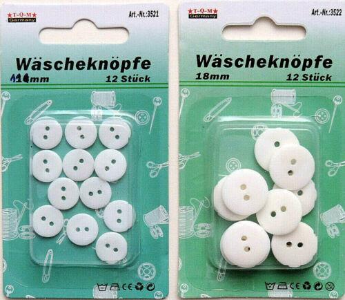 12 piezas de ropa sucia botones 11mm 18mm blanco Koch firmemente botones coser ropa botones 2 agujeros