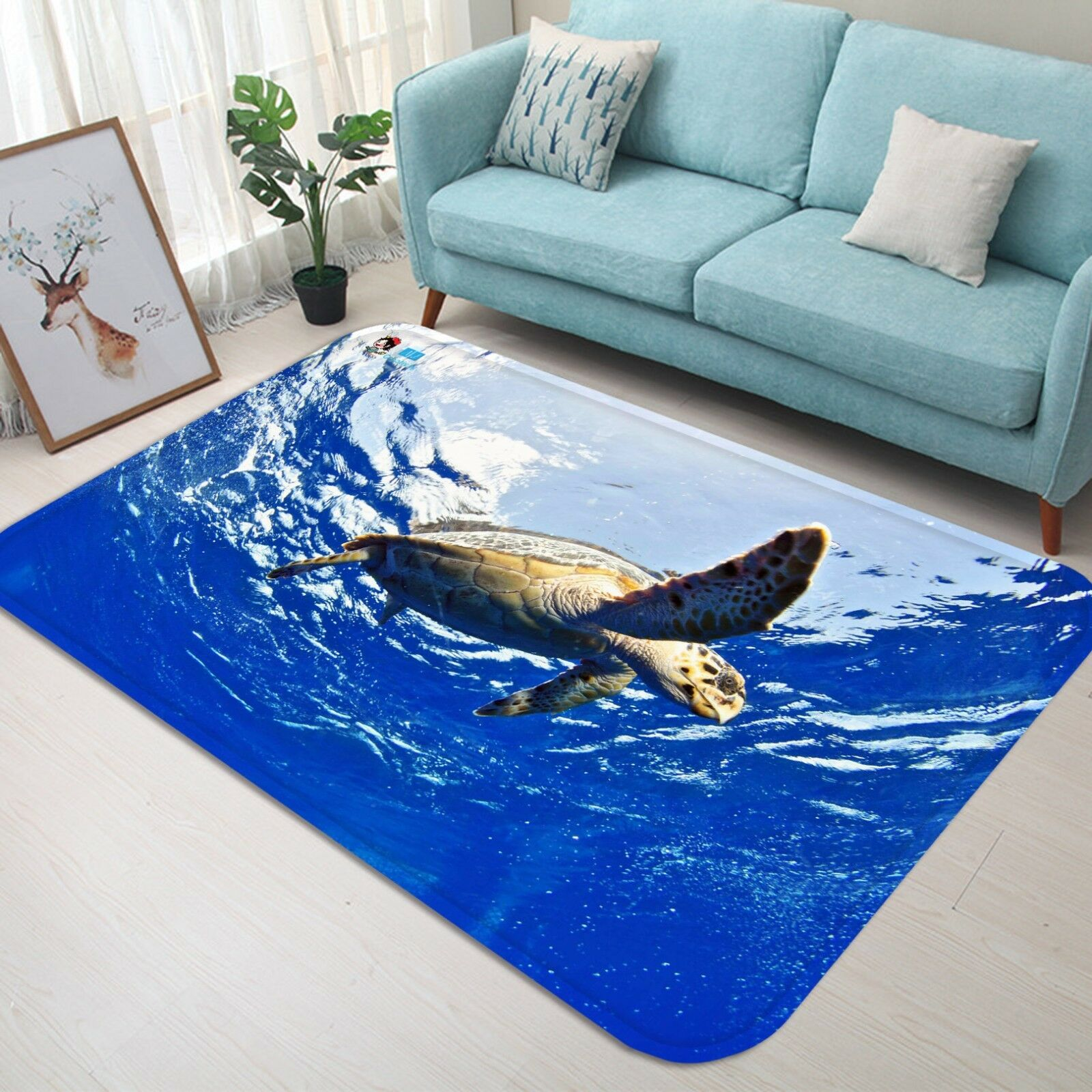 3D Ocean Turtle 102 Non Slip Rug Mat Room Mat Quality Elegant Photo Carpet AU