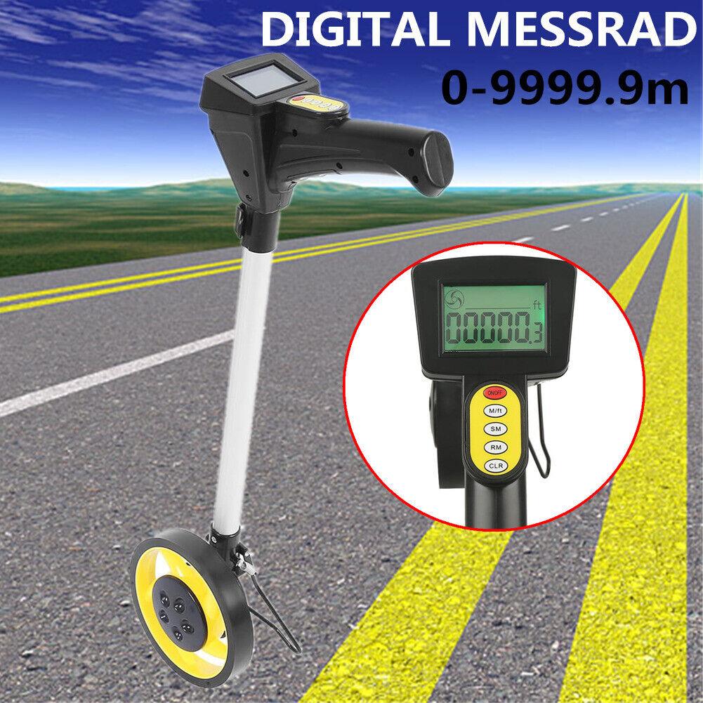 Digital Messrad Messroller Vermessungsrad Streckenmessgerät Werkzeug 99999.9m