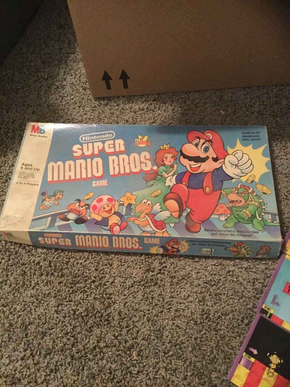 Vintage 1988 Super Mario Brothers Nintendo Board Game Milton Bradley 80s For Sale Online Ebay