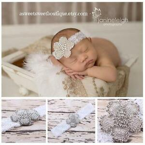 Baby-Girl-Lace-Pearl-Rhinestone-Hair-Band-Crystal-Headband