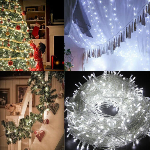 UK Mains 200//300 //500 LED Fairy String Lights Low Voltage Xmas Light Outdoor Use