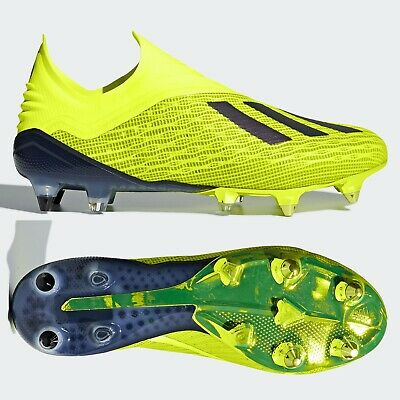 SG Mens Football Boots Laceless Yellow