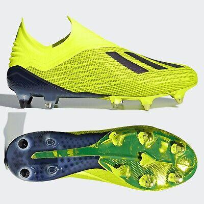 adidas X 18+ SG Mens Football Boots Laceless Yellow DB2226 Purespeed Soft Ground | eBay