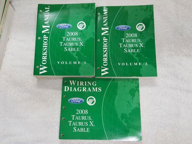 2008 Ford Taurus  Taurus X  Sable Repair Shop Manual  U0026 Wiring Diagrams