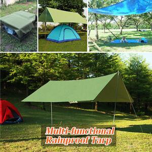 Image is loading 10x10ft-Rain-Tarp-Shelter-Sun-Sunshade-Awning-Canopy- & 10x10ft Rain Tarp Shelter Sun Sunshade Awning Canopy Beach Camping ...