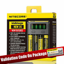 New Nitecore i4 Intelligent 26650 18650 16340 14500 AA Universal Battery Charger