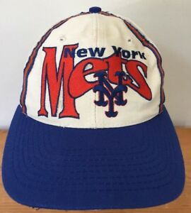online retailer 52fc5 1a976 Image is loading Vintage-80s-90s-MLB-New-York-NY-Mets-