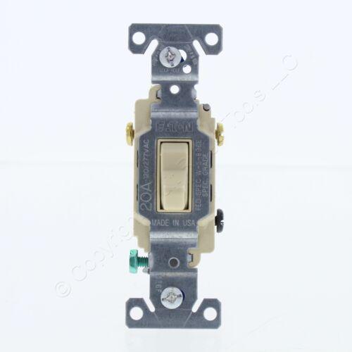 New Eaton Ivory COMMERCIAL Toggle Wall Light Switch 3-Way 20A Bulk CS320V