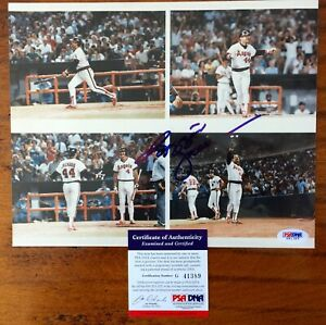 Reggie-Jackson-Autograph-Photo-500th-game-ticket-Athletics-Yankees-H-of-F-1993