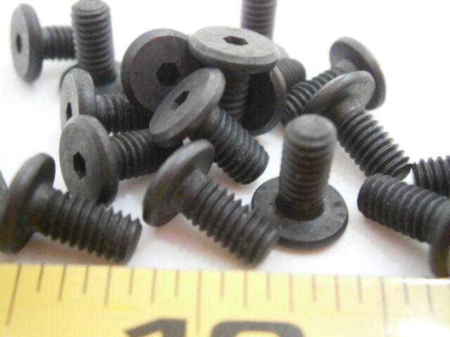 M4 8mm low head soc cap ms machine screw black oxide steel alloy lot of 50 #874