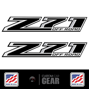 Chevy Z OFF ROAD Decals Stickers Black Out - Chevy silverado stickers