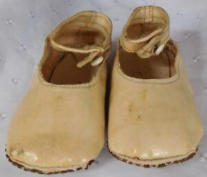 Cc41 Chaussures De Bébé Vintage 1940 S Ww2 Authentique Temps De Guerre Chez Les Nourrissons Enfants Vêtements-afficher Le Titre D'origine ImperméAble à L'Eau, RéSistant Aux Chocs Et AntimagnéTique