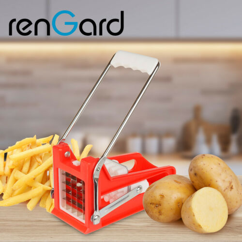 RenGard French Fry Potato Cutter with 2 Blades Easy Slicing Carrots Vegetables