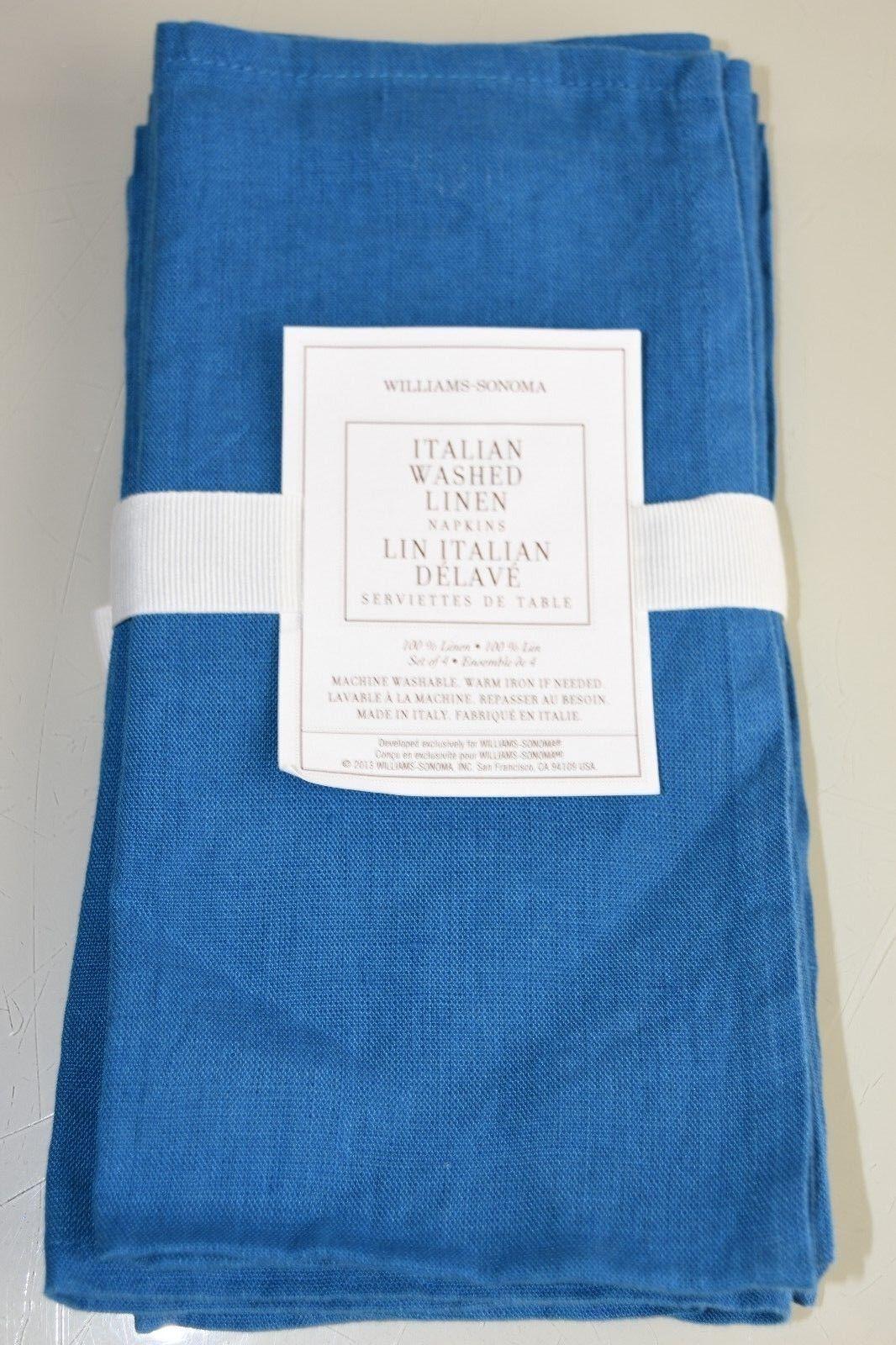 Neu Williams Sonoma Italienischer Vorgewaschen Leinen Leinen Leinen Servietten Set 4   Jeder beschriebene Artikel ist verfügbar  b45c33