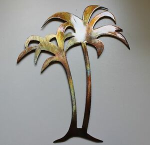 "Tall Metal Wall Art Pleasing Palm Trees 20"" Tall Metal Wall Art Decor  Ebay Design Decoration"