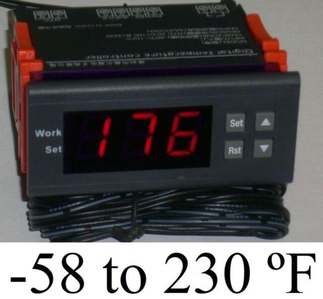 Plug Play Temperature Controller Thermostat Keg Beer Tap Kegerator Chest Freezer