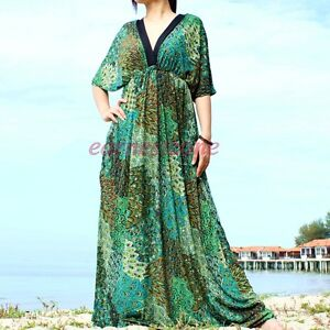 New Evening Peacock Party Plus Size Prom Long Maxi Dress 2X 3X 4X ...