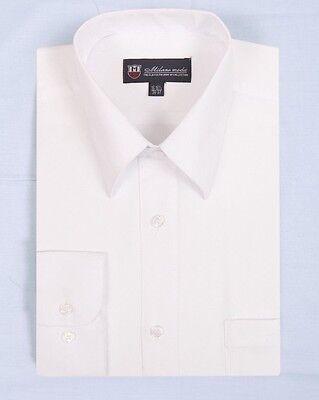 Men's Cotton Blend Plain Solid Basic Dress Shirt MS02