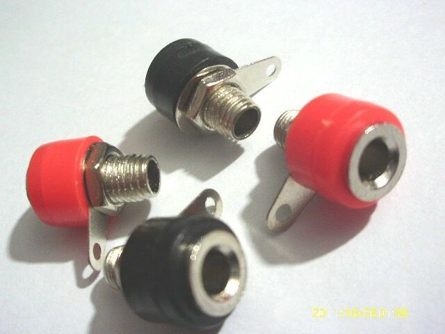 30pcs Banana Jack For 4mm Banana Plug Red + Black